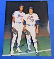 DARRYL STRAWBERRY & SID FERNANDEZ SIGNED 8X10 PHOTO~ 1986 NY METS WS CHAMPS