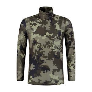 Korda Clothing Range Kool Quick Dry LS Zip Neck Kamo Camo *ALL SIZES* NEW Carp