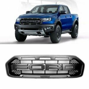 Black Raptor-style Front Grille for 2019 2020 Ford Ranger XL XLT Lariat - Grill
