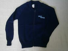 "Vintage Ladybird Zip-up Boys Cardigan - Age 8 - Navy - ""Space Patrol"" - New"