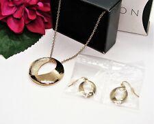 Nice! AVON EVELYN GIFT SET Goldtone Necklace & Earrings Set NEW!