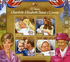 Sierra Leone 2015 MNH Princess Charlotte of Cambridge Birth Royal Baby 4v M/S
