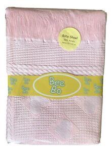 Pink Heart Design Shawl Baby Blanket.