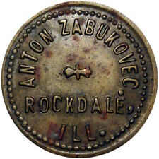 1917 Rockdale Illinois Good For Token Anton Zabukovec Unlisted Merchant