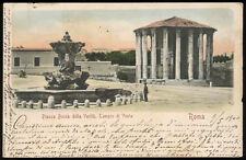 cartolina ROMA piazza bocca della verità, tempio di vesta