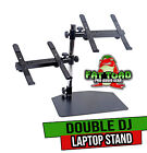 Double DJ Laptop Stand by FAT TOAD | 2 Tier PC Table Holder | Portable Computer