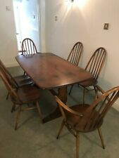 Ercol Dining Room Table And 6 Chairs