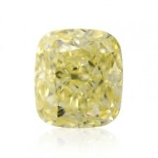 Yellow Diamond  - 3.82ct Natural Loose Fancy Light Yellow Canary GIA IF Flwaless