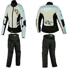 Motorcycle Motorbike Textile Jacket Trouser Suit Summer CE Armoured Suit Blue-8