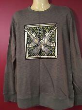 BILLIONAIRE BOYS CLUB Men's Olive Green Graphic Sweater - Size Large - EUC