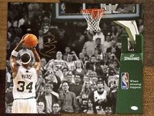 PAUL PIERCE SIGNED 16x20 COLOR PHOTO    AWESOME     SCORING 20,000 POINT     JSA