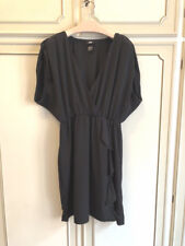 VESTITO NERO H&M stile impero DRESS BLACK v neck estivo lady tg 44 hm hem women
