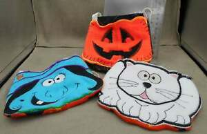 Halloween Mini Treat Bags Cloth Embroidered