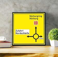 """Emulador Nordschleife 16.5"""" señal de tráfico Regalo de fórmula 1, impresión arte de fórmula 1,"""
