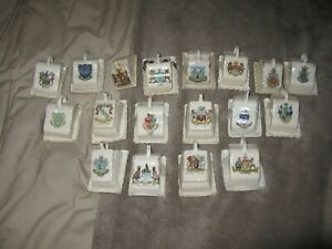 Crested Ware Cheese Dishes x 18
