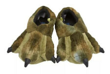 New Stride Rite Plush Slippers - Green Dino Claws Monster  Size Medium 9-10