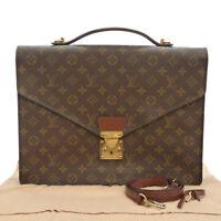 Authentic LOUIS VUITTON Porte Documents Bandouliere Briefcase M53338 #S160603