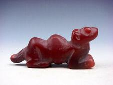 Old Nephrite Jade Carved HongShan Culture Sculpture Monster Crouching #11301906