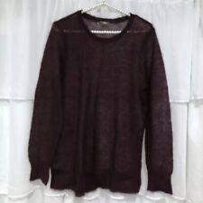 MEDIUM - NWOT J.JILL Burgundy Lightweight Wool Blend Sweater