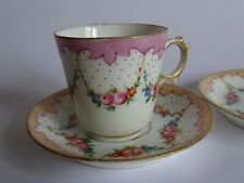 ANCIENNE TASSE A MOKA CAFE EN PORCELAINE DE PARIS 19 EME n°4