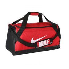 56e4c875d8a9 Nike BA5334-657 Brasilia 6 Medium Duffel Gym Bag Red Black Unisex