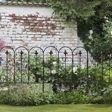 "Garden Fence Fencing Folding Decorative Iron 5 Coated Metal Panels 24"" x 32"""