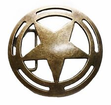 Captain America Shield Antique Bronze Metal Belt Buckle