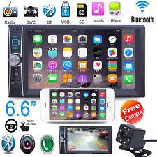 "6.6"" 2 DIN HD Auto Stéréo Autoradio Bluetooth GPS Car MP3 Player USB FM +CAM"