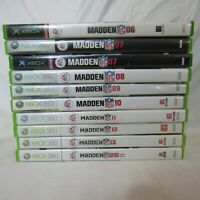 Lot of 10 Xbox and 360 Sports Games Madden 6 7 8 9 10 11 12 13 25