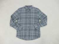 Ermenegildo Zegna Button Up Shirt Adult Large Gray Brown Long Sleeve Casual Mens