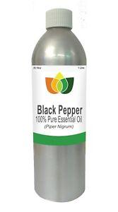 Black Pepper Essential Oil Pure  Piper Nigrum 1 Litre - Aromatherapy