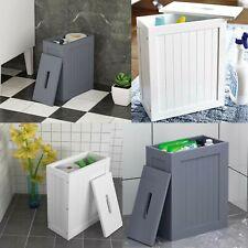 WOODEN SHAKER SLIMLINE STORAGE UNIT BATHROOM CLEANING TOILET ROLL STORAGE UNIT