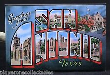 "Greetings from San Antonio Vintage Postcard 2"" X 3"" Fridge Magnet. Texas"