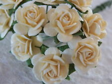 50x12mm Paper CREAM ROSES CL153 Handmade Wedding Crafts Cards Scrapbooking