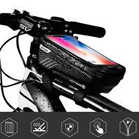 Bicycle Cycling Bike Front Top Tube Frame Bag MTB Waterproof Phone Holder Mount