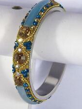 Designer Crystal Bracelet Bangle Glass Fusion Large Size Indian Wedding jewelery