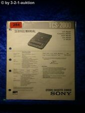 Sony Service Manual TCS 2000 Cassette Corder (#0284)