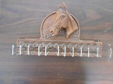 RESIN HORSE HEAD TIE AND BELT RACK - NICE AND DIFFERENT