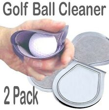 2 ONLY GOLF BALL CLEANERS -Wet inside but Dry in your Pocket,.