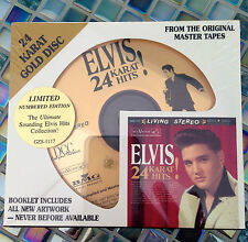 ELVIS PRESLEY, 24 Karat Hits! 24 KARAT Gold Disc CD, Sep-1997, DCC AUDIOPHILE