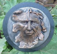 Leaf face garden mold plaster concrete casting reusable mould
