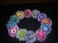 WHOLESALE lot 4 girls baby HAIR BOW ZEBRA daisy FLOWER