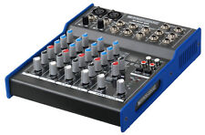 MIXER DJ DISCO AUDIO PASSIVO 6 CANALI 3 BAND EQ PHANTOM 48V 100 MULTIEFFETTI