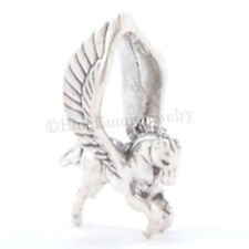 3D PEGASUS Winged Flying Horse Pendant Bracelet Charm Solid 925 Sterling Silver