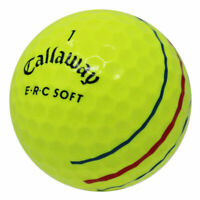 48Callaway ERC Soft Yellow Poor Quality AA Used Golf Balls *In a Free Bucket!*
