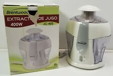 Brentwood 400 W Electric Juice Extractor Jc-450 Kitchen Appliance Juicer