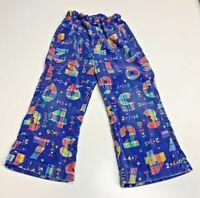 Vintage Corduroy Plaid Numbers Addition Child's Pants 60's/70's Size 3T