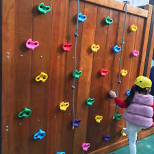KIDS ROCK WALL HAND CLIMBING HOLDS ASSORTED COLOUR STONES 10PCS