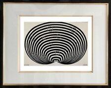 AUTHENTIQUE PEINTURE OP ART CINETIQUE EPOQUE 1970 SIGNEE LORETO  (24)