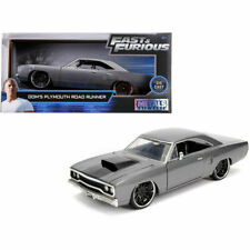 Doms Plymouth Road Runner Metallic Gray with Black Hood Stripe Fast & Furious